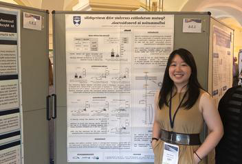 Ashley Giam with research poster